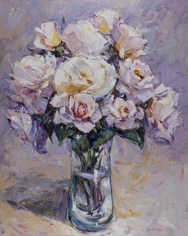 White Roses From Bru's Garden