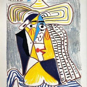 Personnage Cubiste au Chapeau